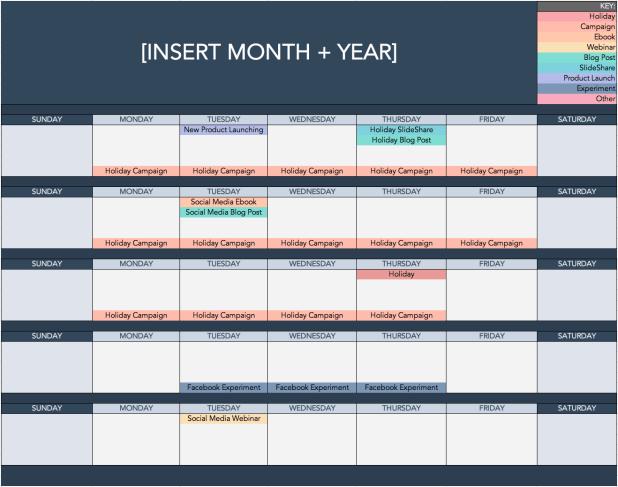 HubSpot's Free Social Media Calendar Template