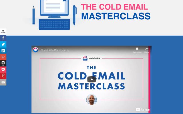 Cold Email Masterclass screenshot