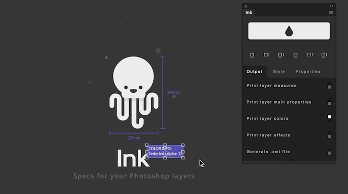 Ink Photoshop plugin