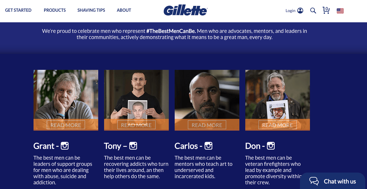 integrated marketing campaigns: gillette