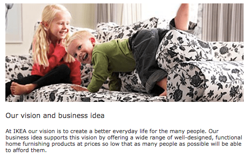 IKEA Vision ejemplo branding