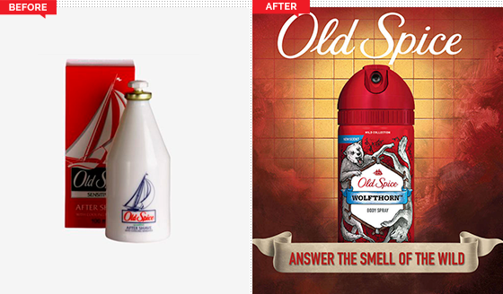 Old Spice ejemplo Branding