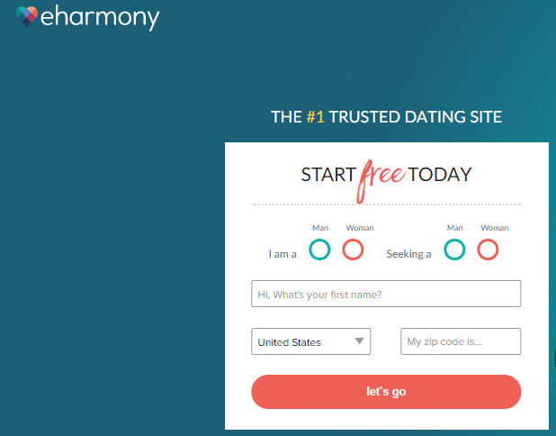 eHarmony ejemplos formularios