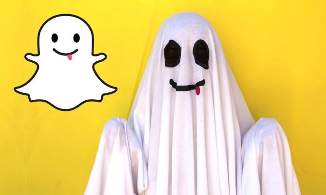 Disfraz halloween oficina fantasma Snapchat