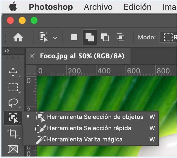Cómo eliminar fondo de imagen con herramienta selección de objetos en PhotShop