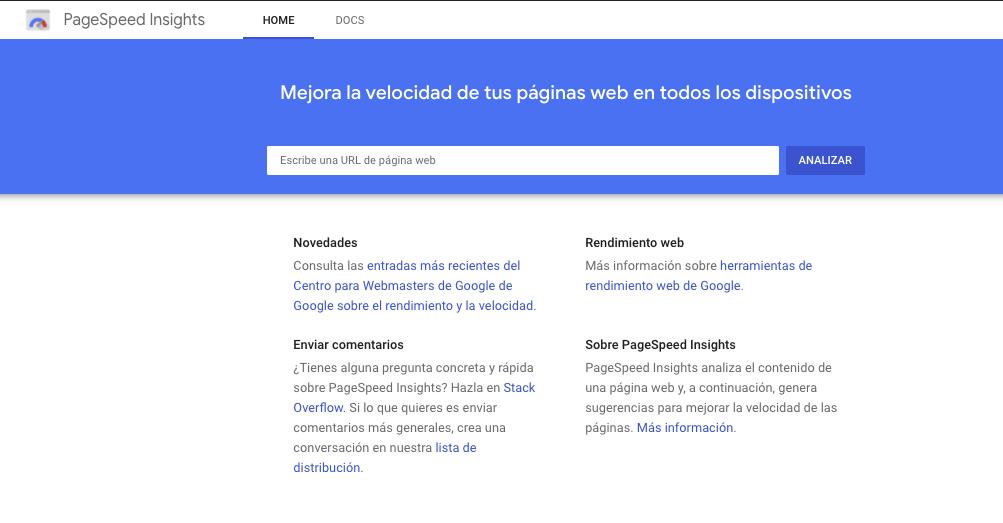 PageSpeed Insights: herramienta para medir y mejorar la velocidad de carga de tus páginas y sitios web