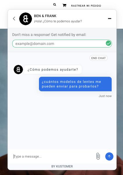 Chatbot de Ben & Frank