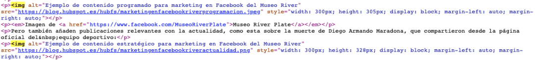 Ejemplo de cómo insertar la etiqueta de HTML para imágenes, img, en una página web
