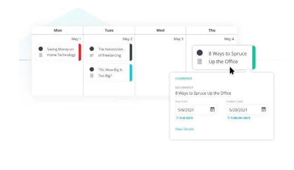 Herramientas de gestión y generación de contenidos para redes: ClearVoice