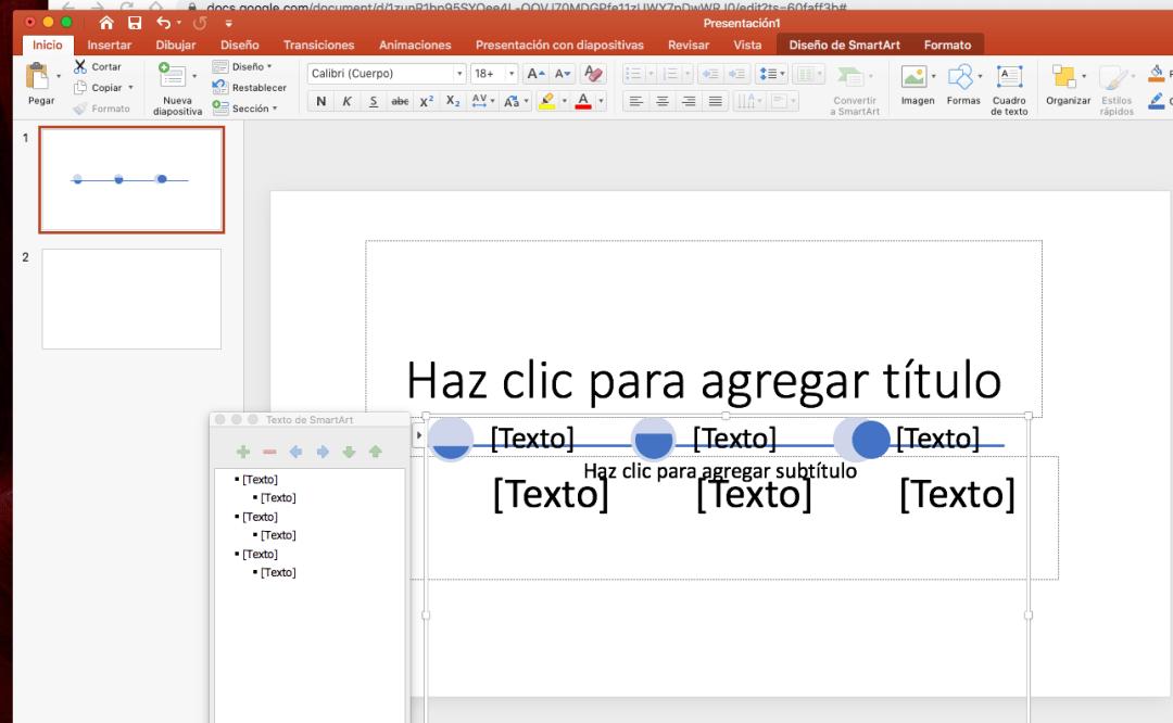 Cómo crear una línea del tiempo en PowerPoint: añade círculos para los hitos