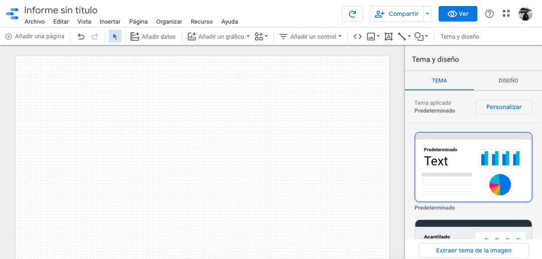 Informe nuevo de Google Data Studio