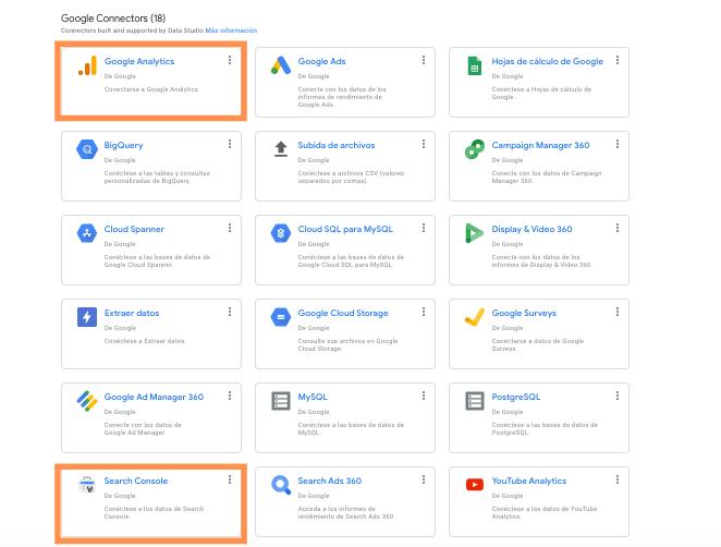Conectarse a los datos de Google Data Studio