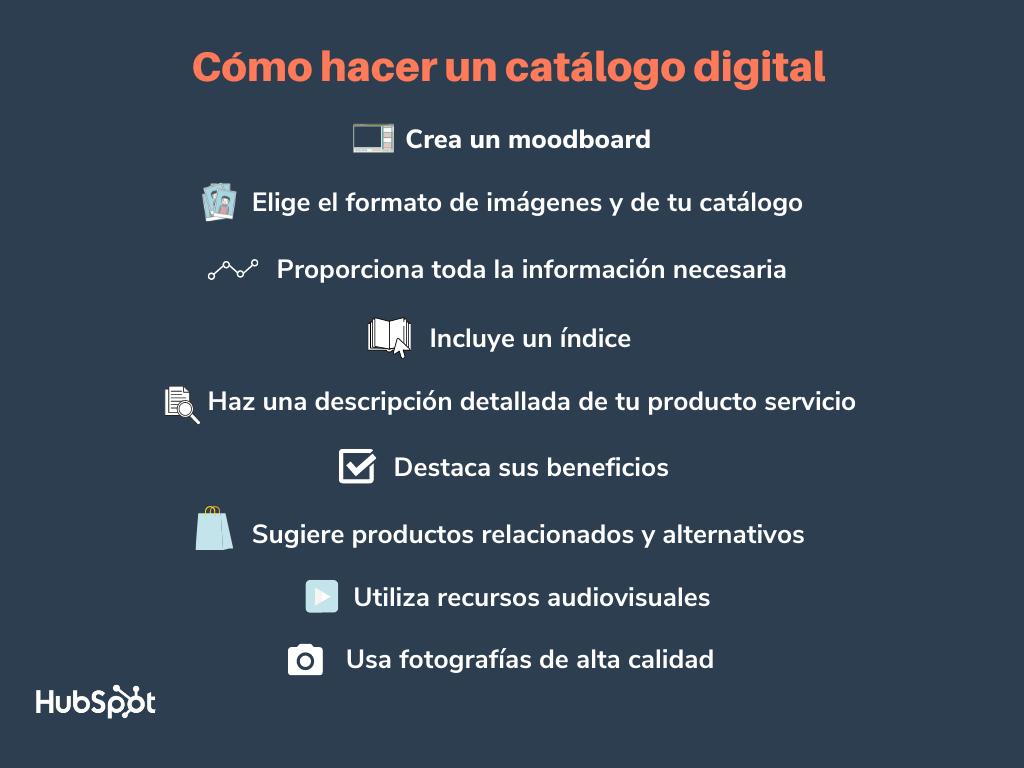 Cómo hacer un catálogo digital: pasos