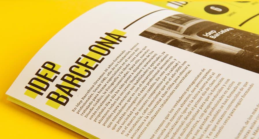 Ejemplo del uso de tipografía para un catálogo digital