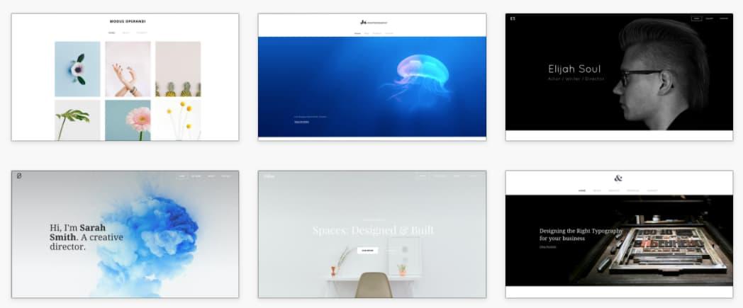 Página de inicio de Weebly, herramienta para crear un catálogo digital