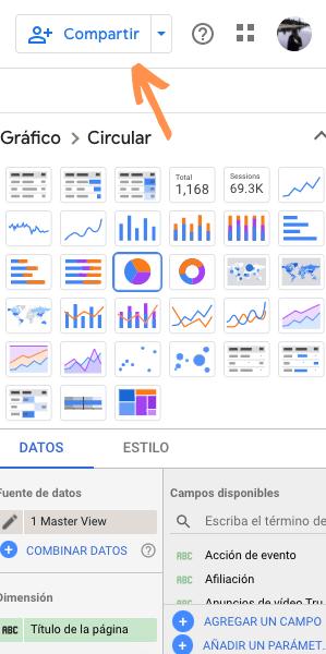 Compartir gráficos de Explorador a Data Studio