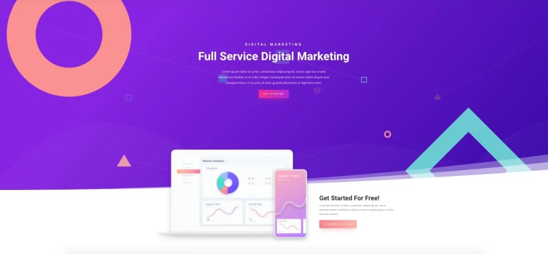 Template gratuito para landing page: Digital Marketing