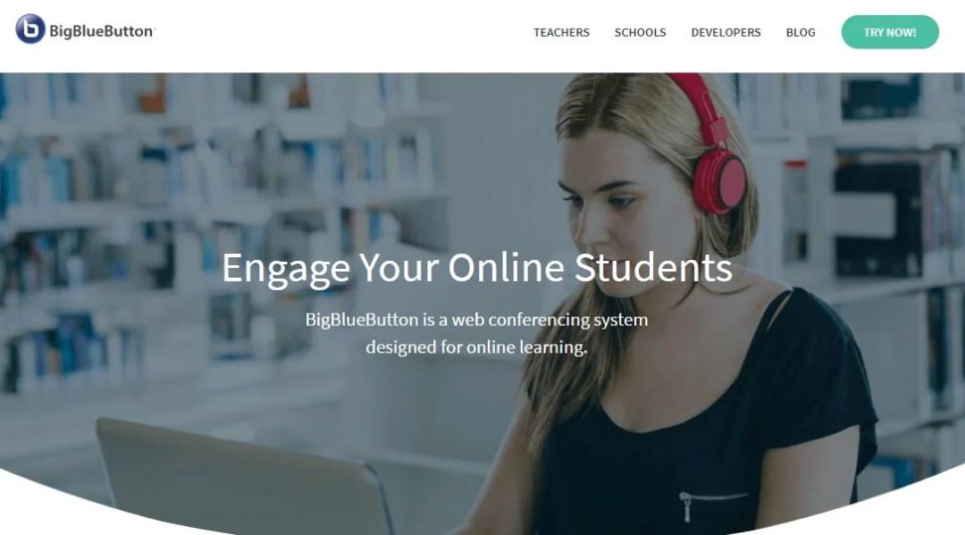 Software gratuito para webinar: BigBlueButton