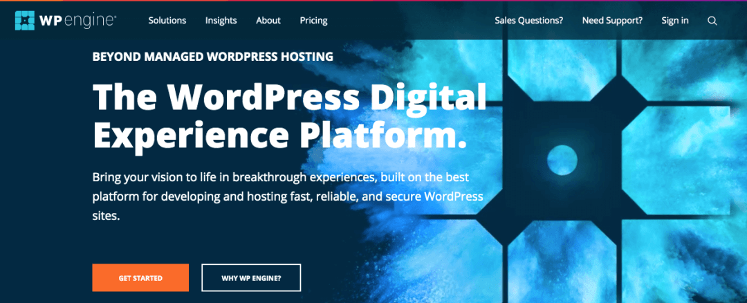 WP engine, sitio de hosting