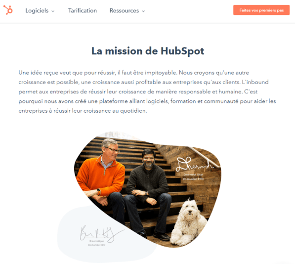 About us page HubSpot