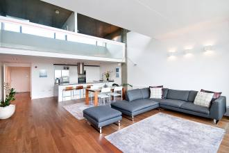 A two double bedroom loft style apartment in the popular Union Wharf, N1