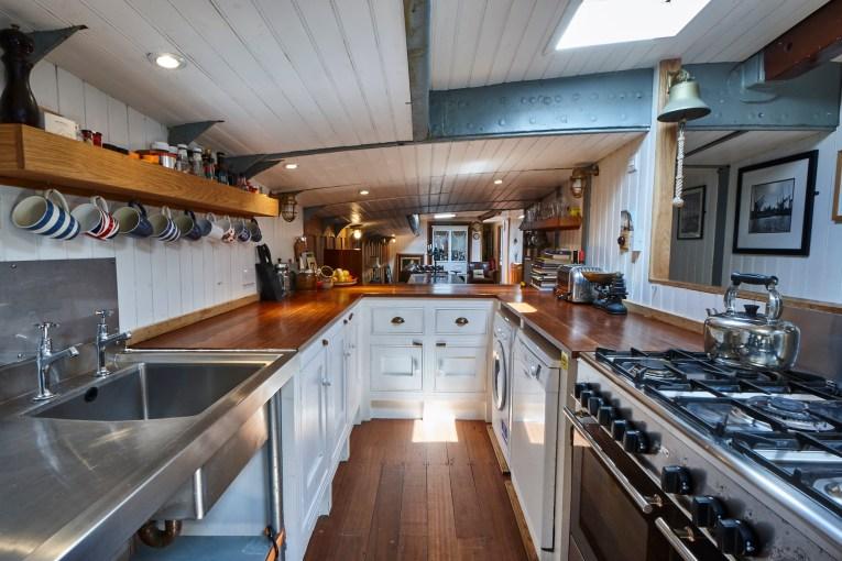 Ship ahoy! Three Bedroom 86ft Sailing Barge, Limehouse Marina, E14
