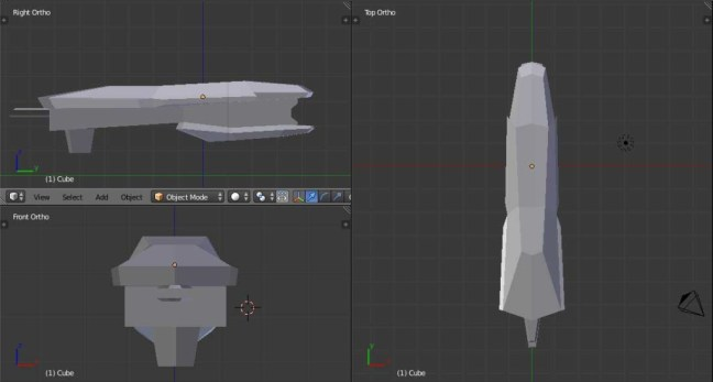 Kitbashing Spaceship : BlockoutStage-Example