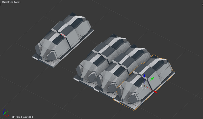 Kitbashing Spaceship : Shield Chain Example