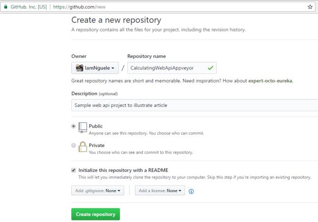 Create a repository on GitHub