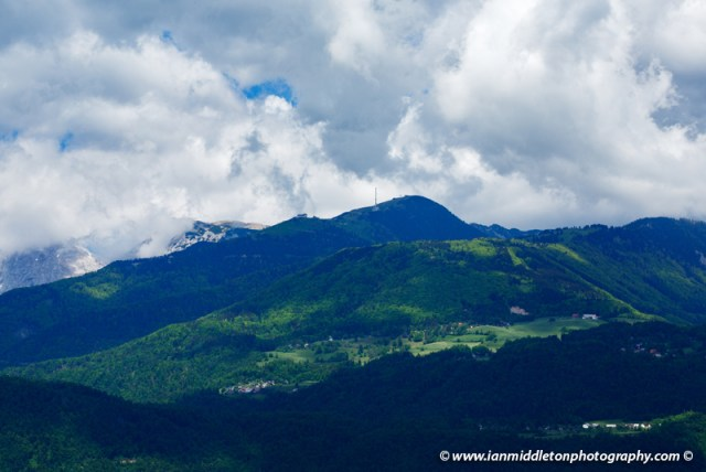 View of Krvavec ski resort in summer, Slovenia.