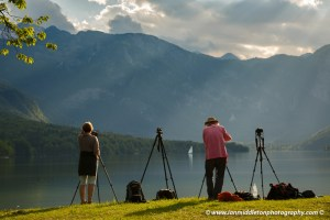 Beautiful light and clouds scattering over Bohinj Lake, ,Triglav National Park, Slovenia.