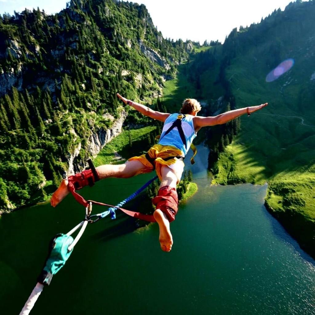 Para os mais aventuteiros, um salto de bungee jump no Garden Route