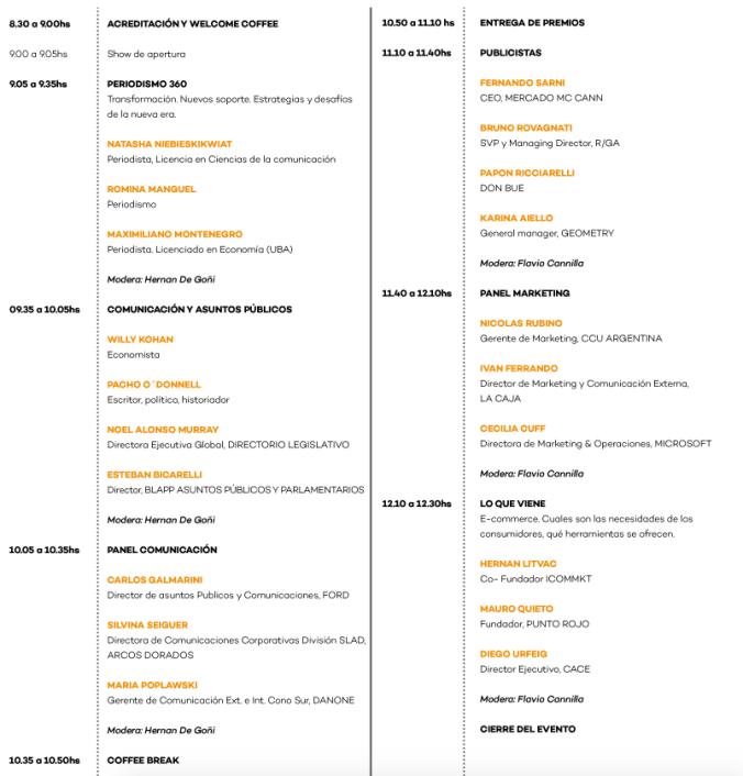 ICOMMKT Cronograma Marketing & Communication Summit
