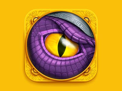 https://dribbble.com/shots/1408200-Dragon-Eye-iOS-Icon