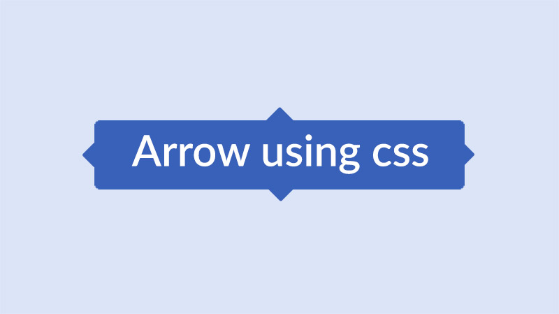 arrow using css