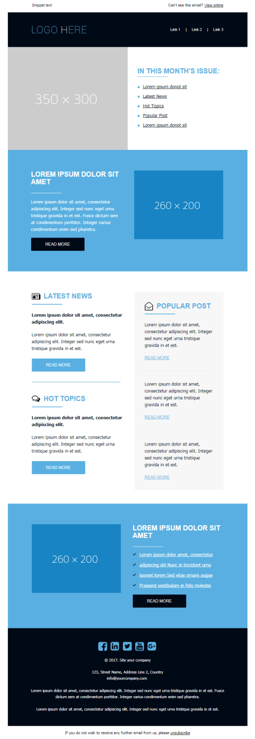 newsletter moderate