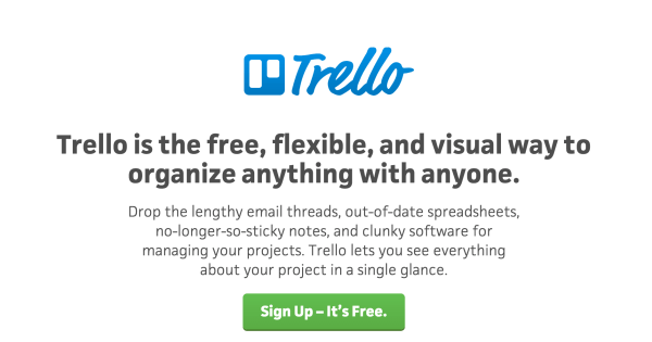 Trello collaboration to organize anything with anyone