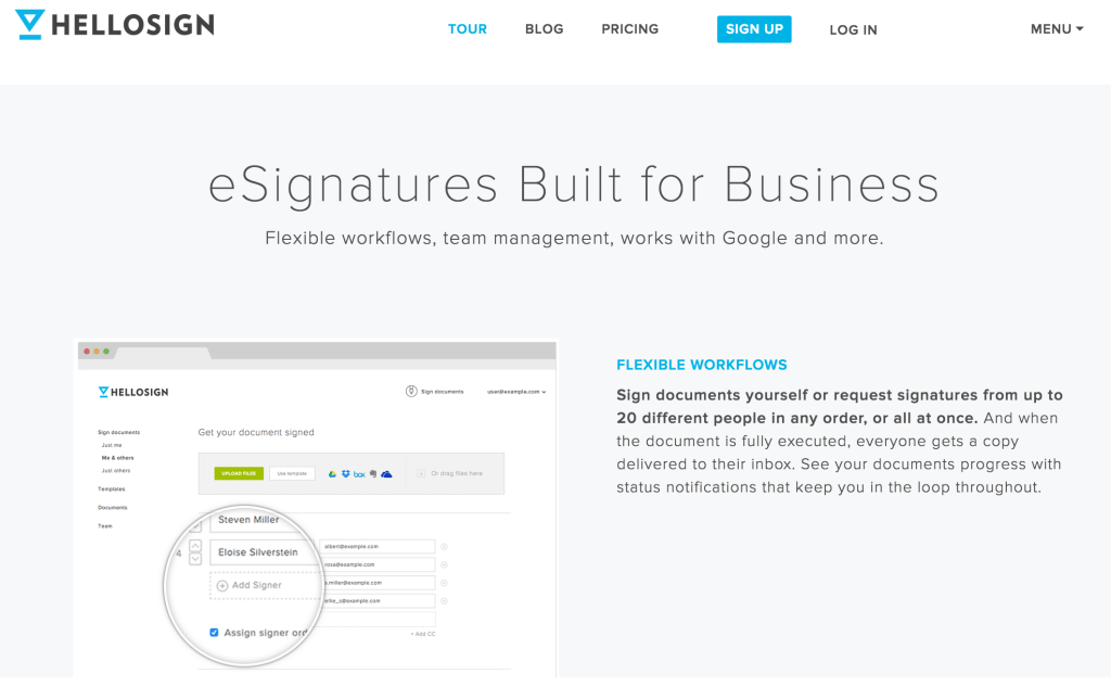 esignatures built for business