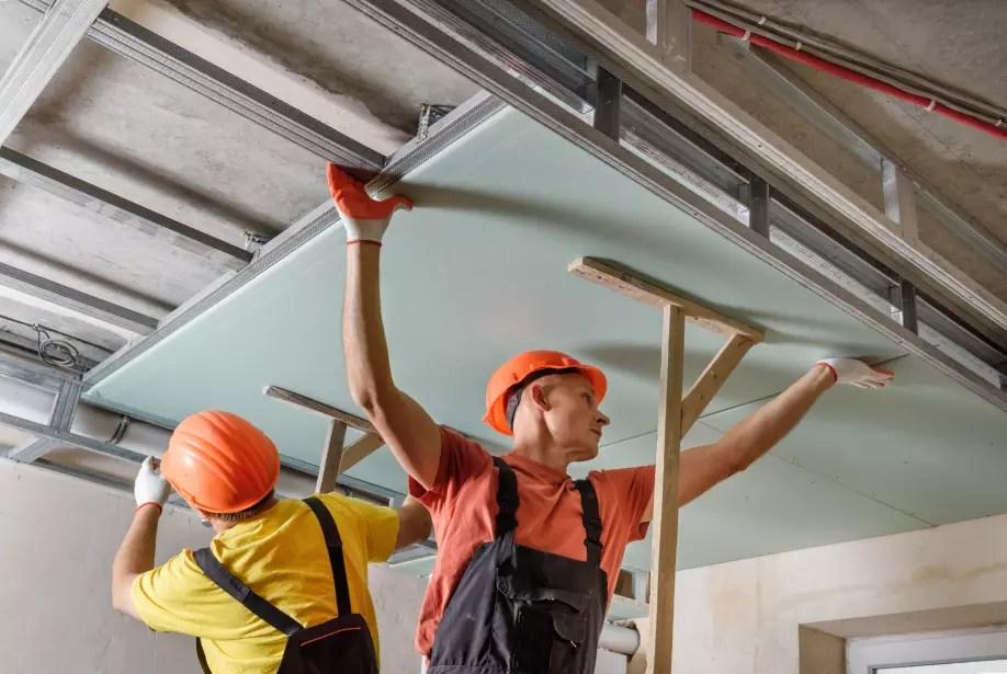 instalacao-forro-gesso-acartonado-drywall-placa-verde-impermeavel