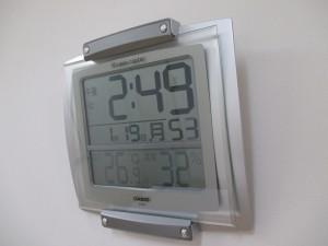 鍼灸院の湿度計