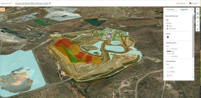 Mapeamento da infraestrutura e das áreas de risco de uma mineradora