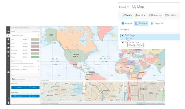 Personalizar mapas base de vetores - Novidades do ArcGIS Online
