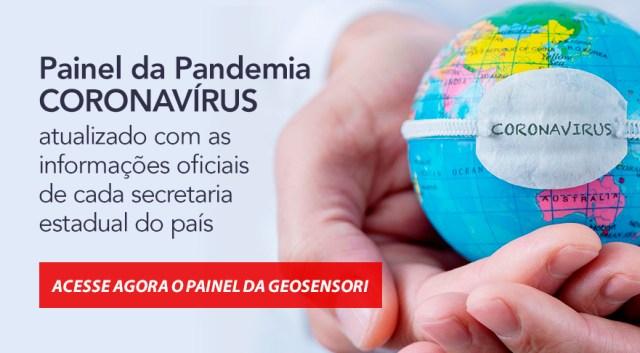 Site do Painel da pandemia Coronavírus