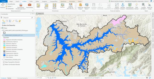 mapa pedológico da bacia hidrográfica