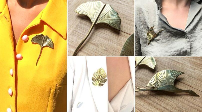 bijou ethnique broche artisanale accessoire boheme chic