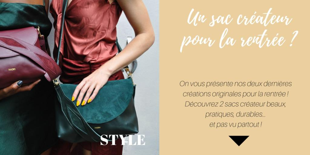 sac createur cuir inaden pour femme