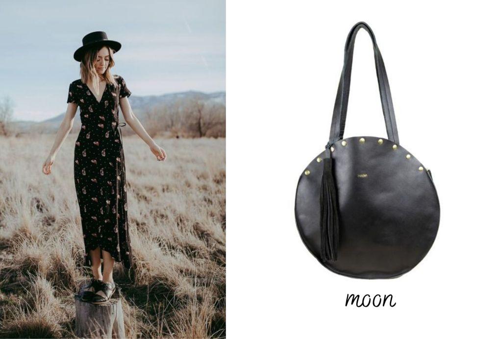 la robe noire fleurie pour un style boho rock chic