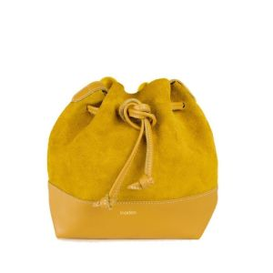 petit sac cuir pour femme couleur jaune moutarde