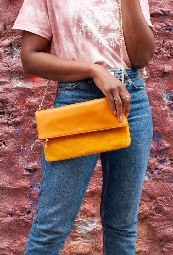 petit sac pochette pour femme cuir & daim