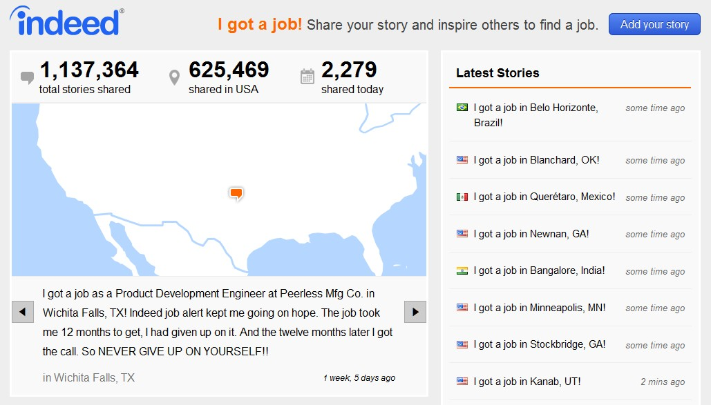 did you get a on share your story blog